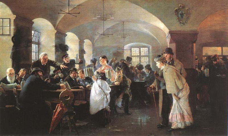 In the brewery in Munich - Philip de Laszlo