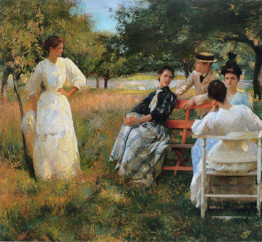In the Orchard - Edmund Charles Tarbell