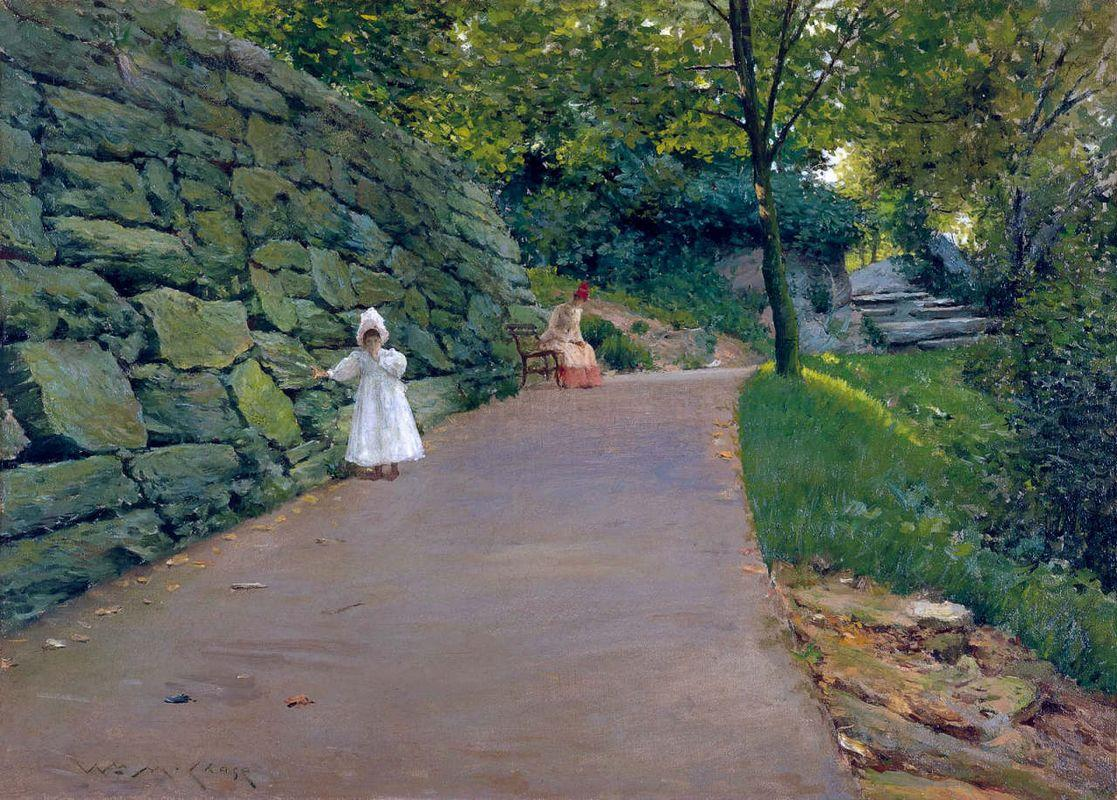 In the Park - a By-Path - William Merritt Chase