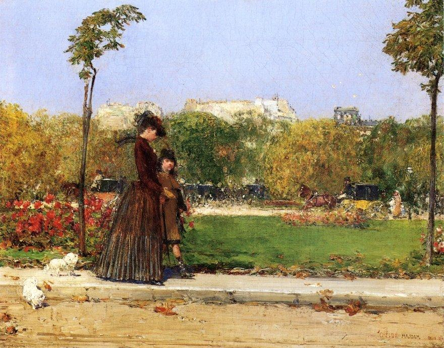 In the Park, Paris - Childe Hassam
