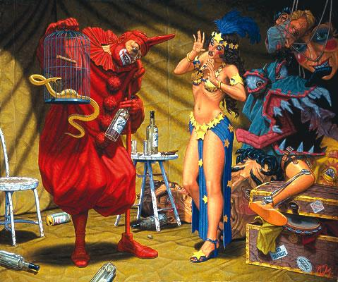 In The Pavilion of The Red Clown - Robert Williams