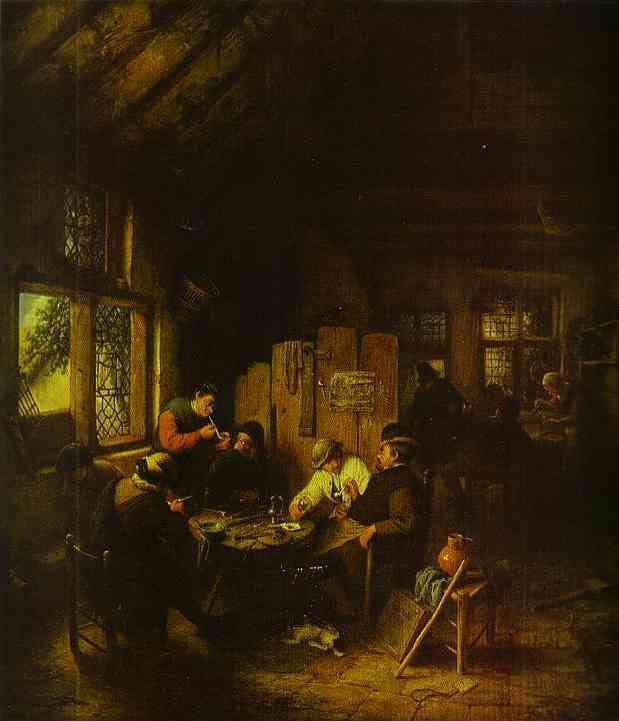 In the Village Inn - Adriaen van Ostade