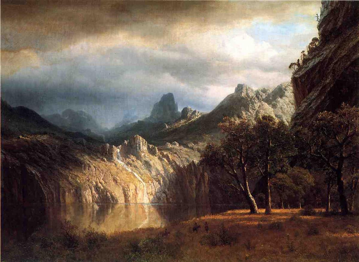 In Western Mountains - Albert Bierstadt