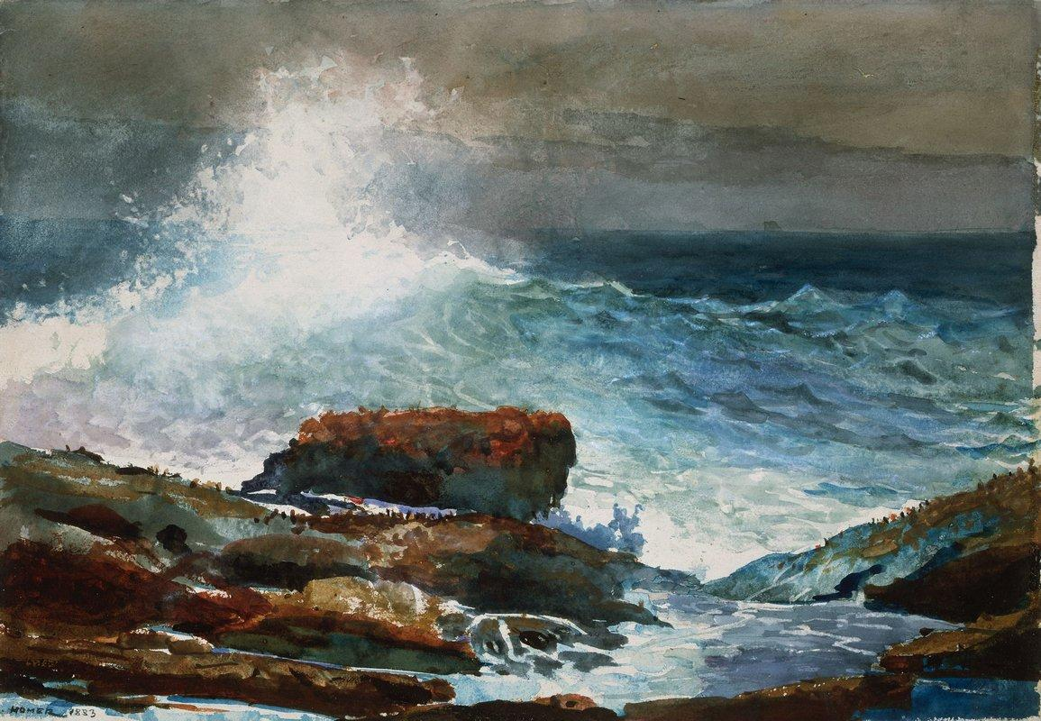 Incoming Tide, Scarboro Maine - Winslow Homer