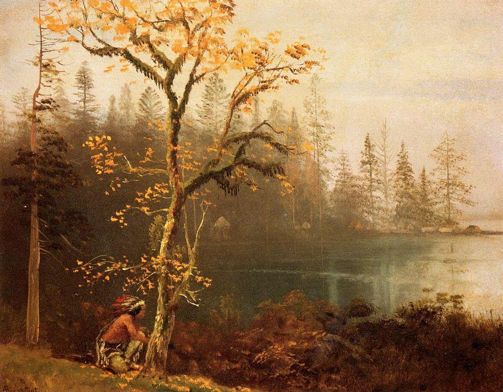 Indian Scout - Albert Bierstadt