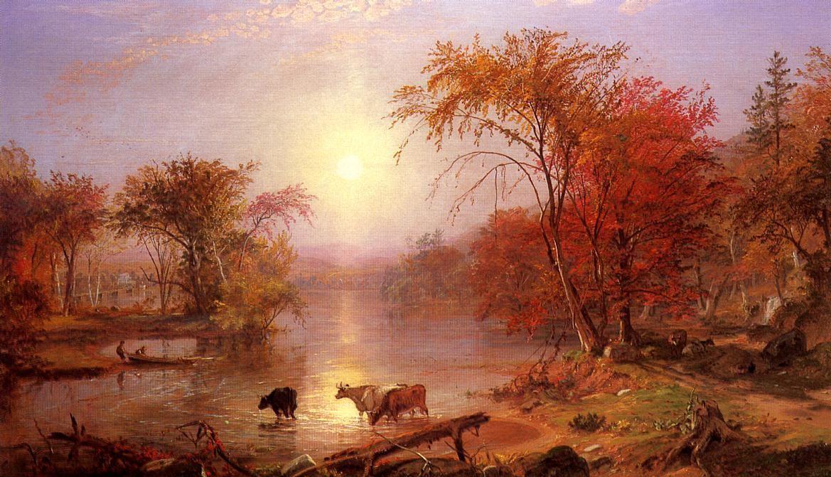 Indian Summer Hudson River - Albert Bierstadt