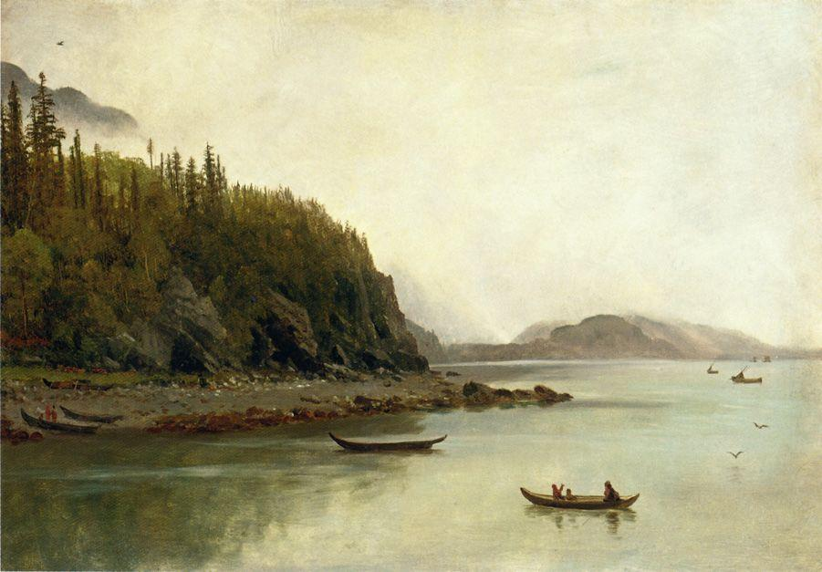 Indians Fishing - Albert Bierstadt