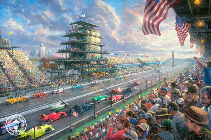 Indy Excitement - Thomas Kinkade