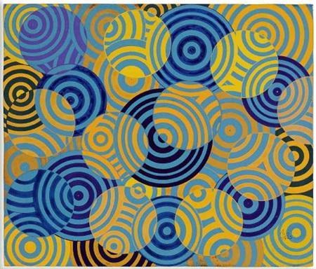Interferences en bleu et jaune (No. 642) - Antonio Asis