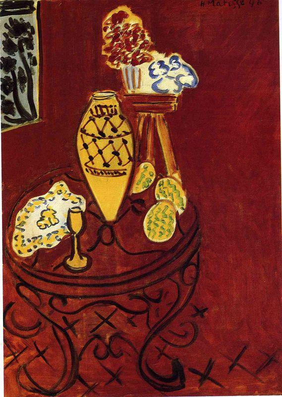 Interior in Venetian Red - Henri Matisse