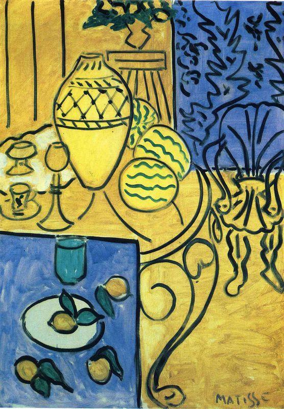 Interior in Yellow - Henri Matisse