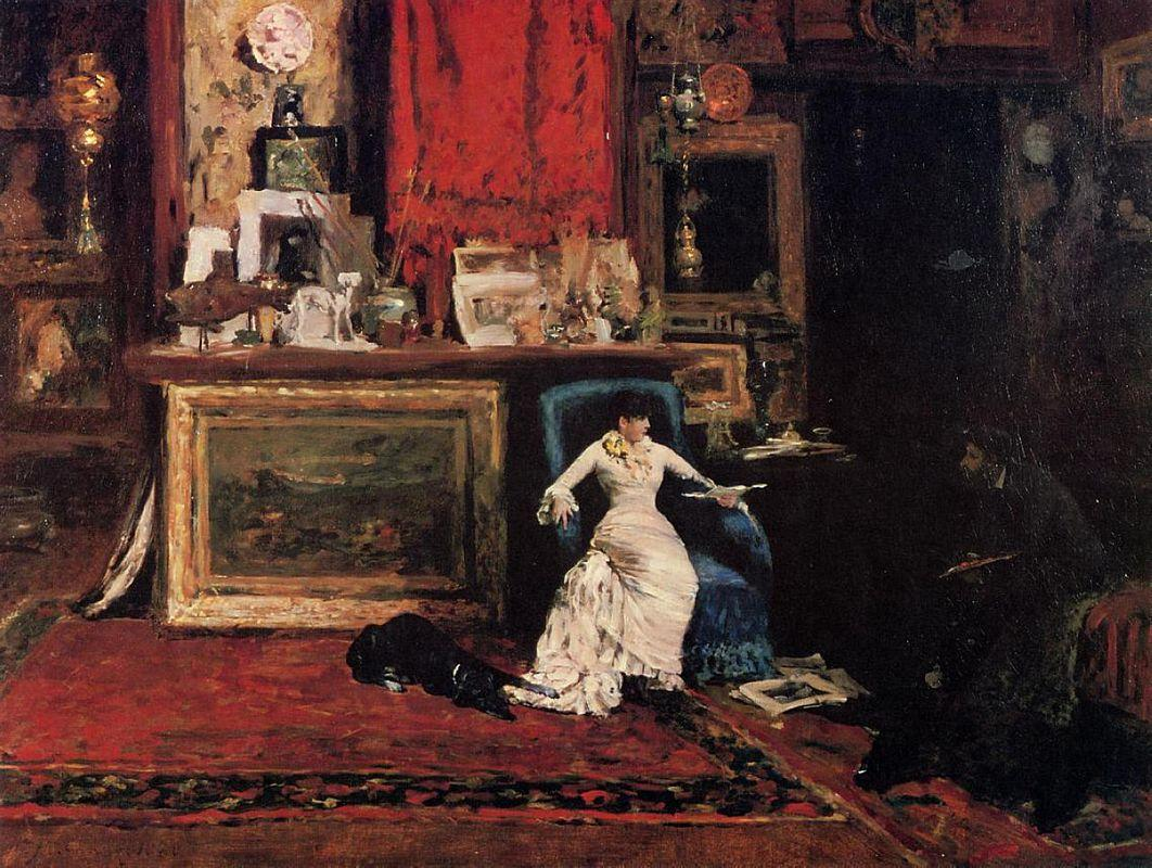 Interior of the Artist's Studio (aka The Tenth Street Studio) - William Merritt Chase
