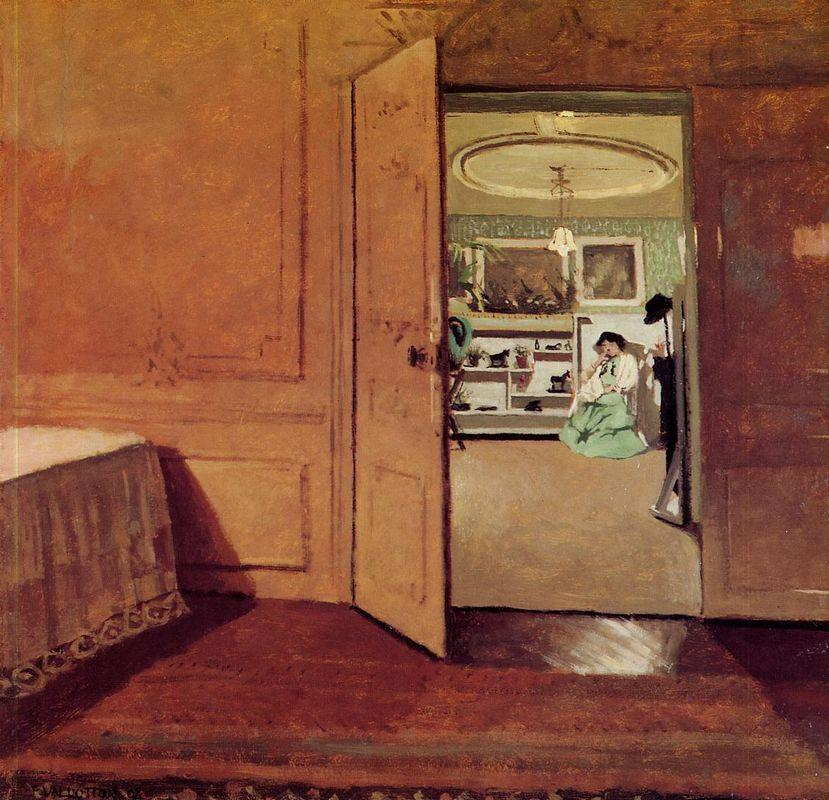 Interior, Vestibule by Lamplight - Felix Vallotton