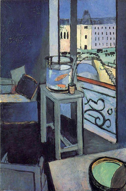 Interior with a Bowl with Red Fish - Henri Matisse