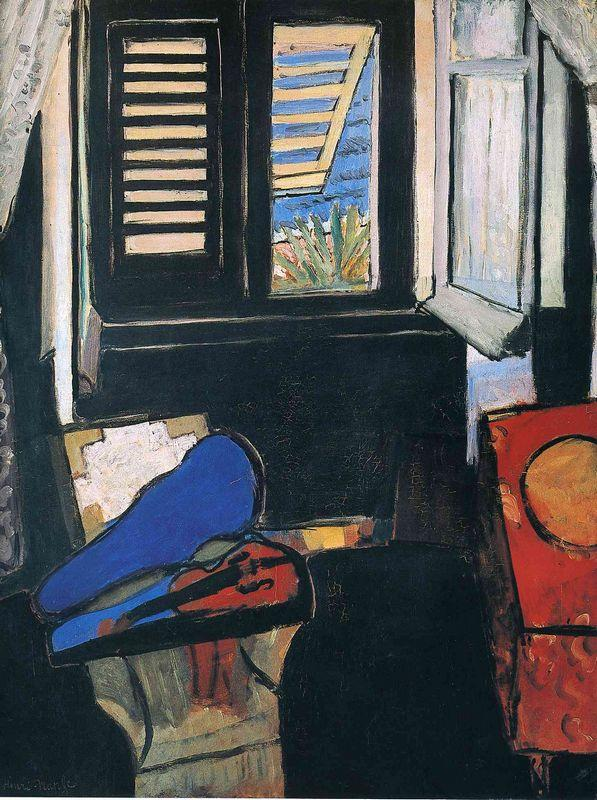 Interior with a Violin - Henri Matisse