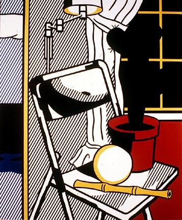 Interior with cactus - Roy Lichtenstein