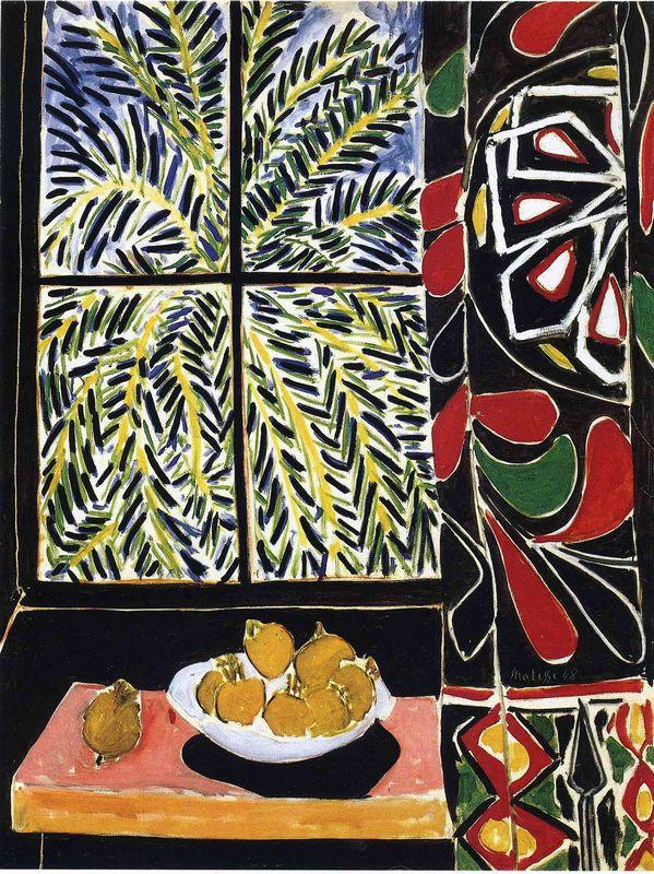 Interior with Egyptian Curtain  - Henri Matisse