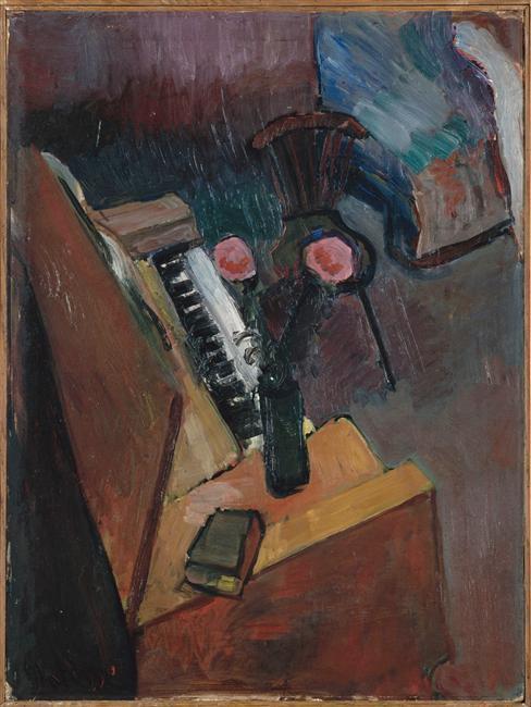 Interior With Harmonium - Henri Matisse