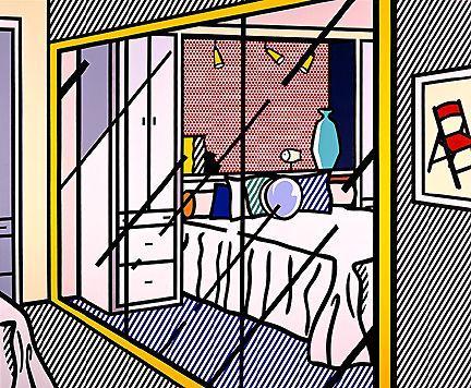 Interior with mirrored closet - Roy Lichtenstein