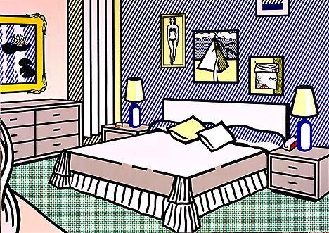 Interior with water lilies - Roy Lichtenstein