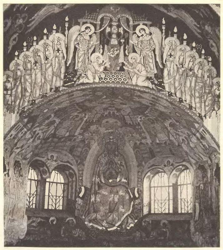 Internal painting of the church in Talashkino - Nicholas Roerich