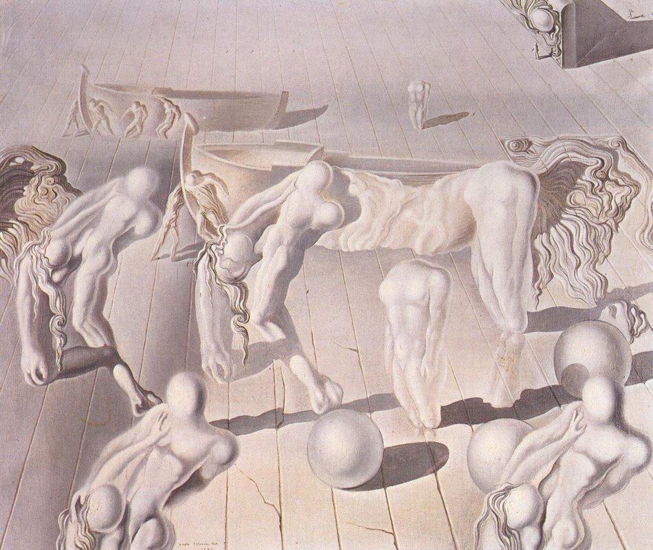 Invisible  Sleeping Woman, Horse, Lion - Salvador Dali