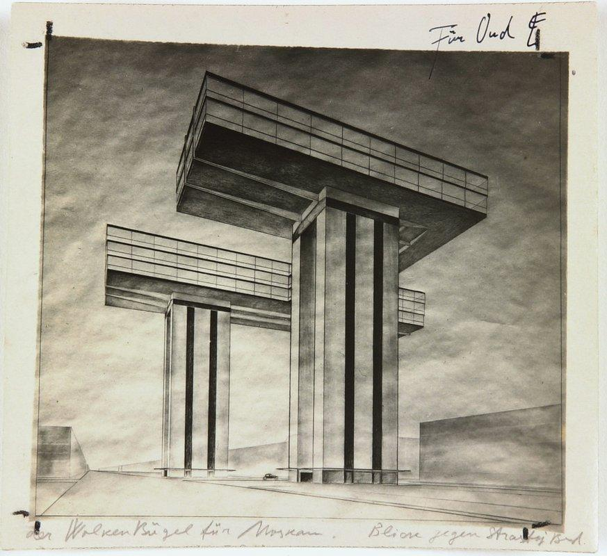 Iron in clouds', for Strastnoy Boulevard - El Lissitzky