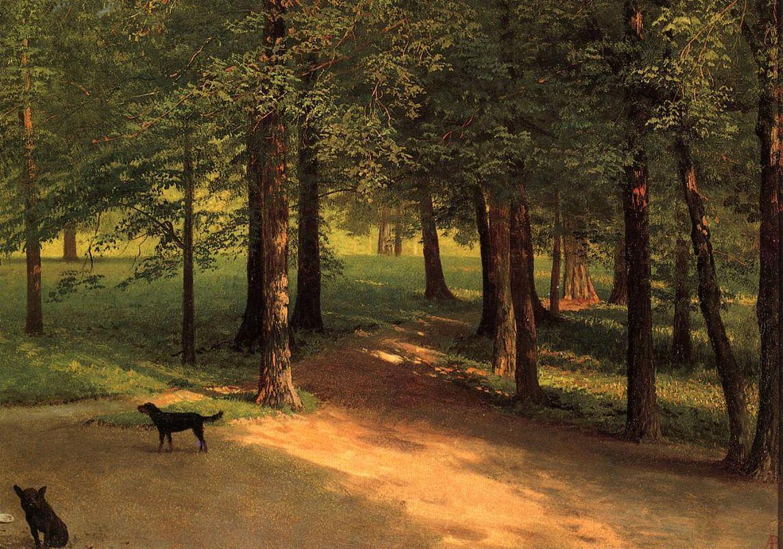 Irvington Woods - Albert Bierstadt