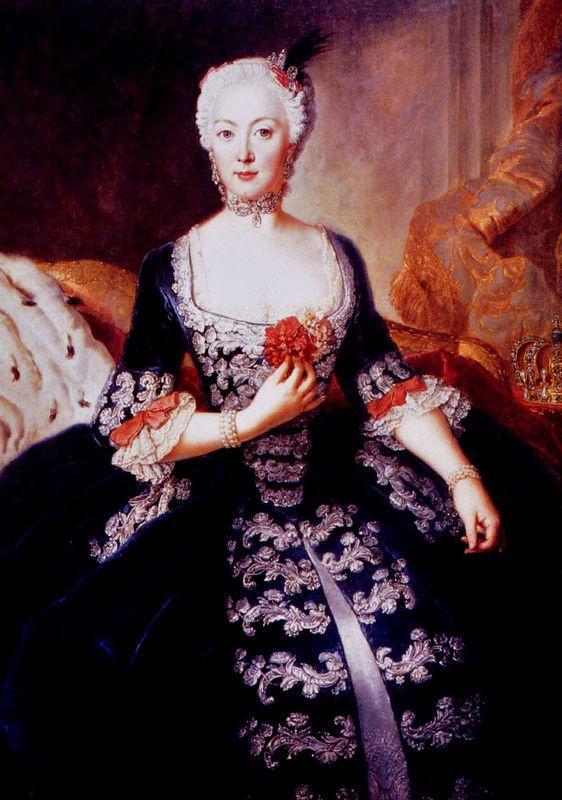 Isabel Cristina de Brunswick-Wolfenbuttel - Antoine Pesne