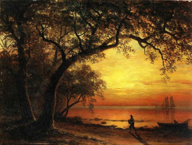 Island of New Providence - Albert Bierstadt