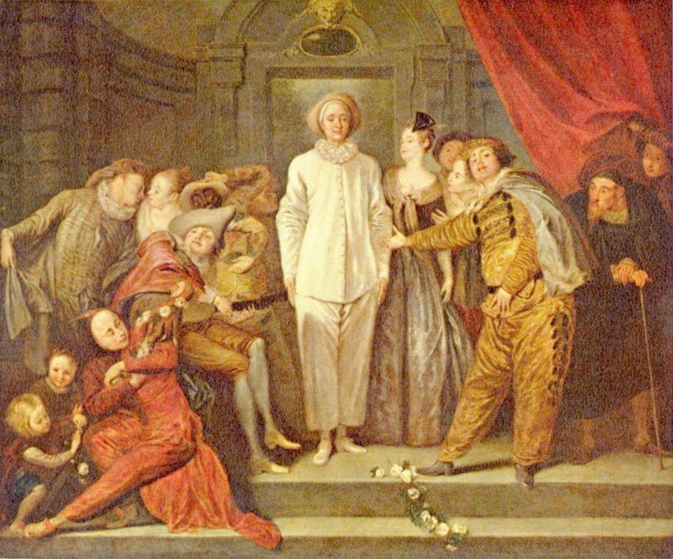 Italian Comedians - Antoine Watteau