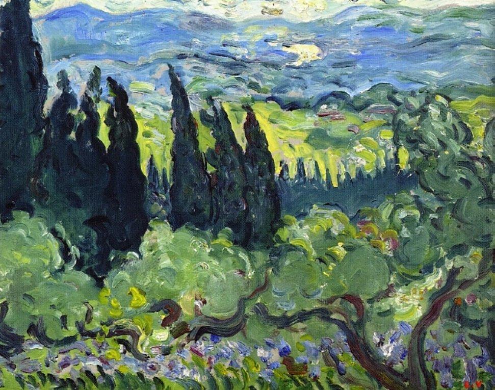Italian Landscape, Cypresses - Louis Valtat