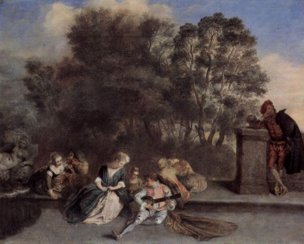 Italian Recreation - Antoine Watteau