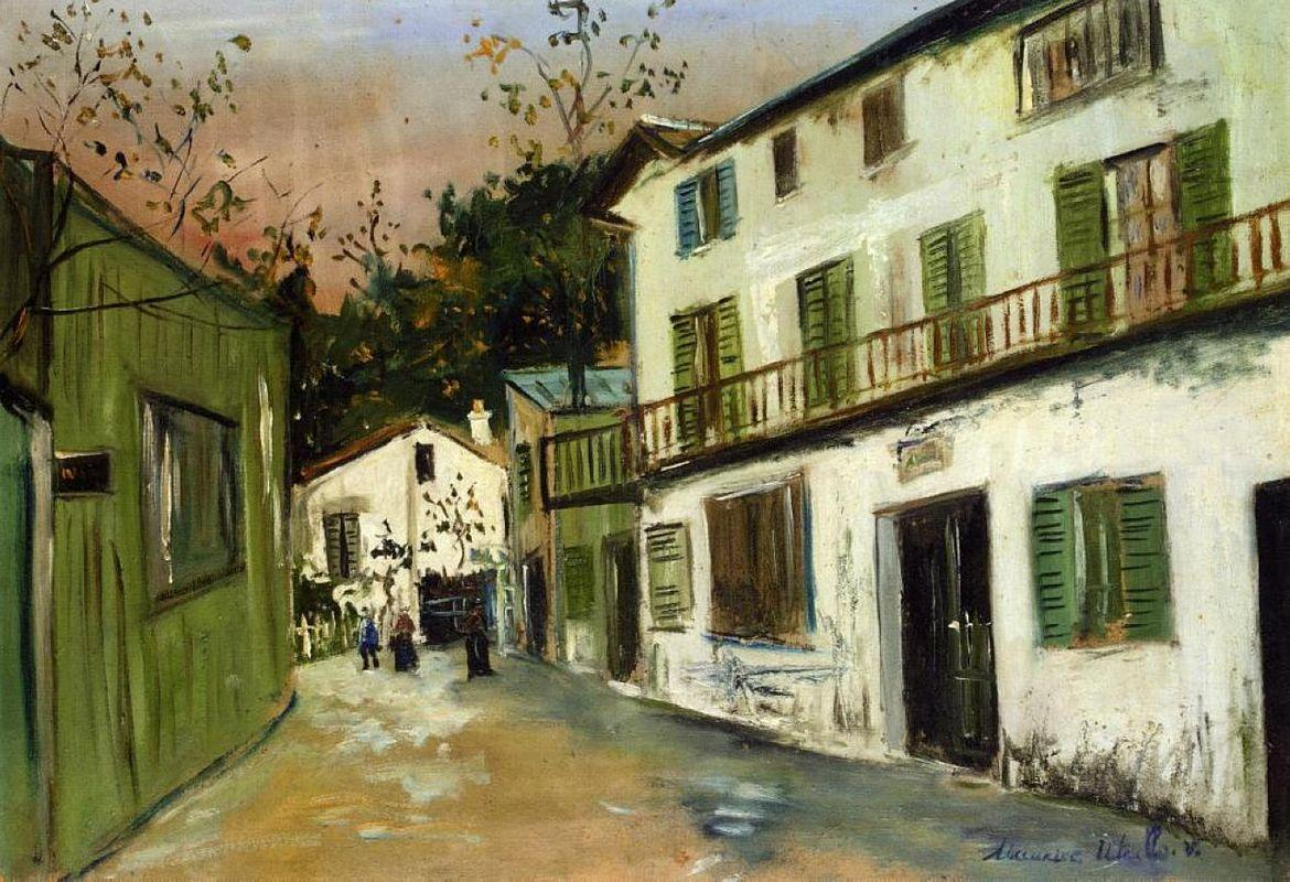 Italian's house at Monmartre - Maurice Utrillo