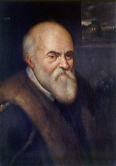 Italian scientist Ulisse Aldrovandi - Agostino Carracci