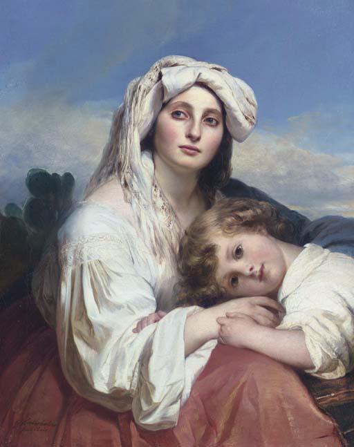 Italian woman with child - Franz Xaver Winterhalter