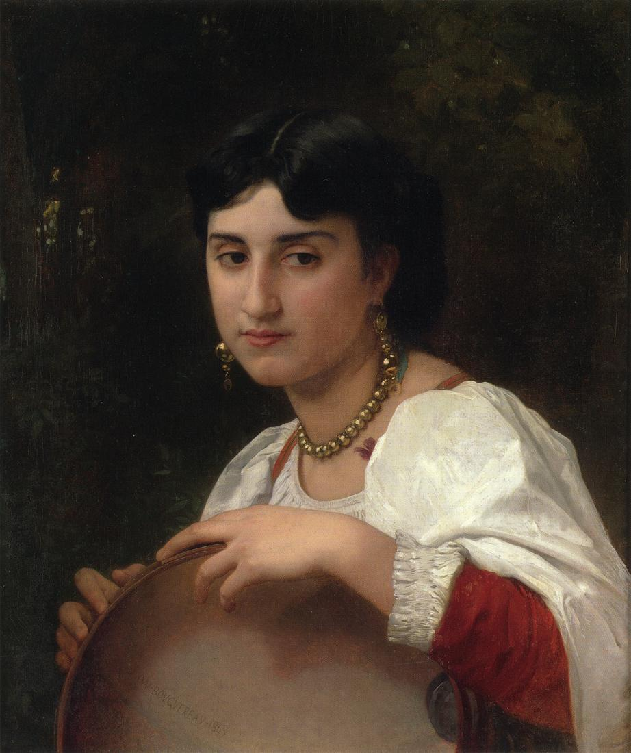 Italian Woman with Tambourine - William-Adolphe Bouguereau