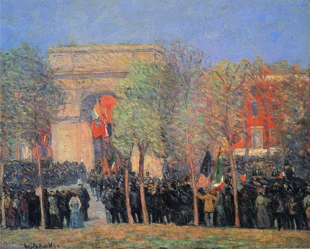Italo-American Celebration, Washington Square - William James Glackens
