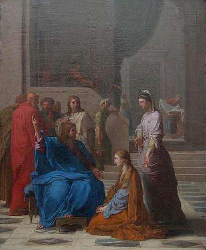Jesus chez Marthe et Marie  - Eustache Le Sueur