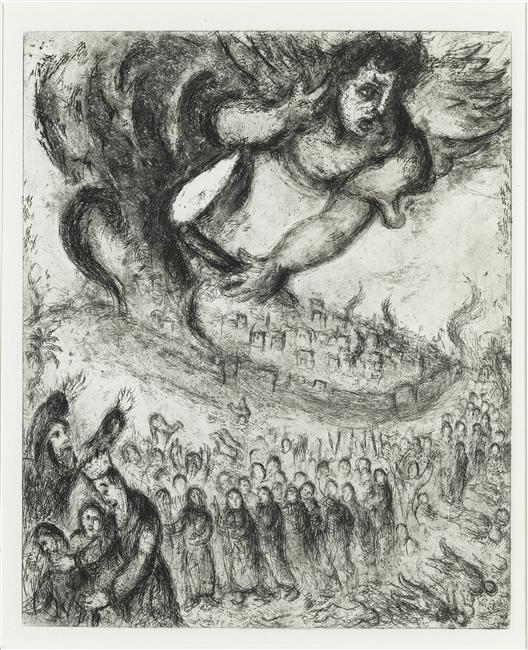 Jerusalem was taken by Nebuchadnezzar as the prophecy of Jeremiah (Jeremiah, XXI, 4 7) - Marc Chagall