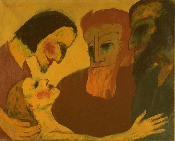 Jesus Christ and the sinner - Emil Nolde