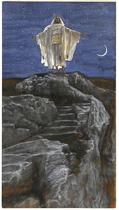Jesus Goes Up Alone onto a Mountain to Pray - James Tissot