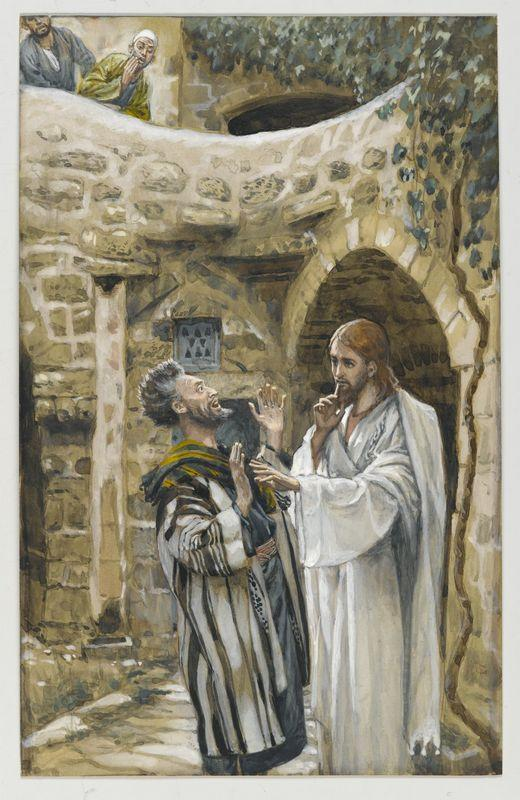Jesus Heals a Mute Possessed Man - James Tissot