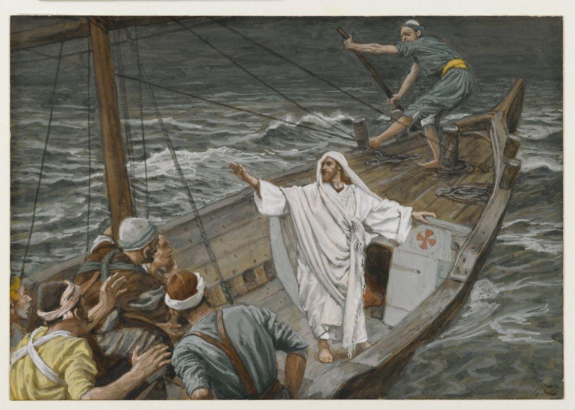 Jesus Stilling the Tempest - James Tissot