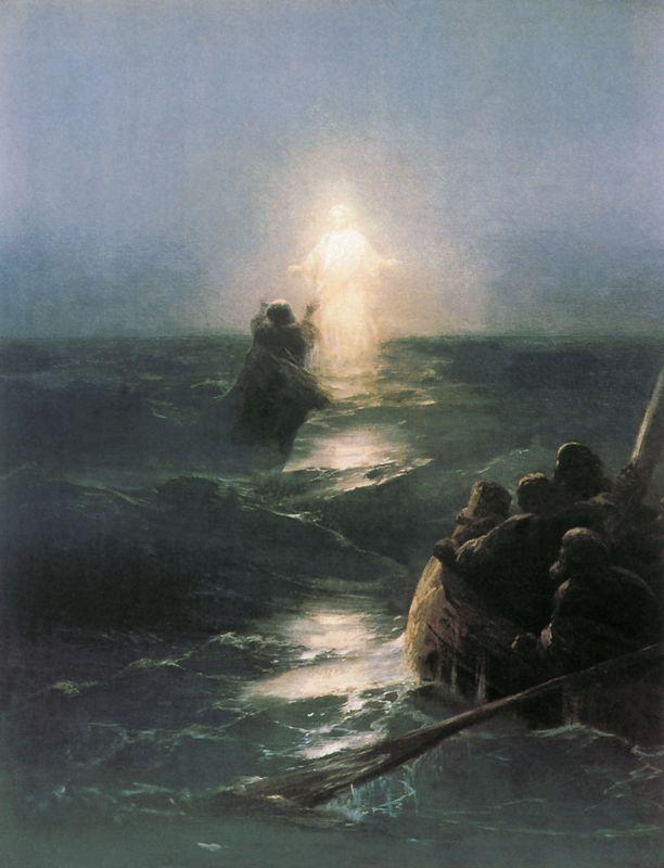 Jesus walks on water - Ivan Aivazovsky