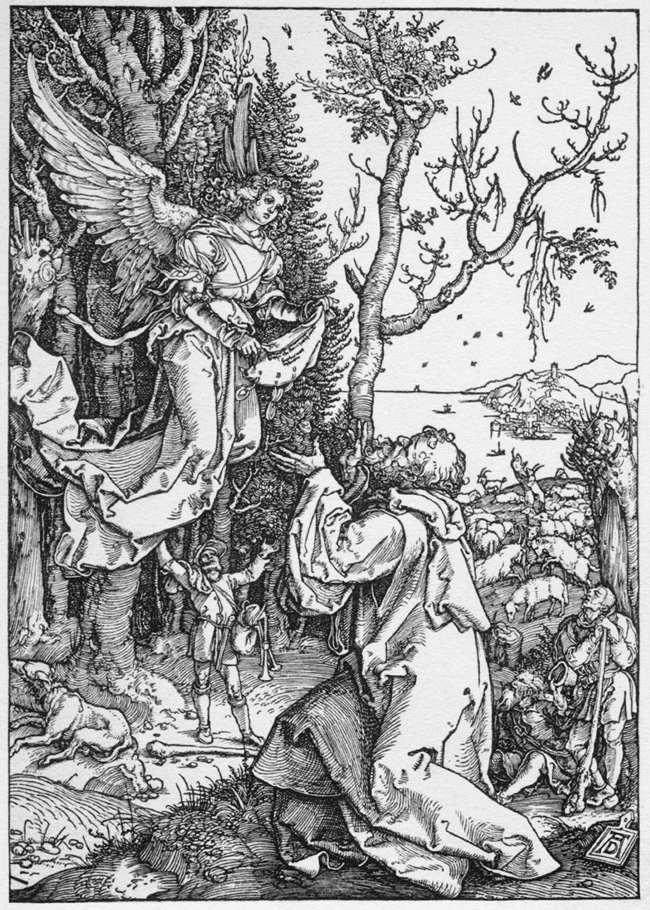 Joachim and the Angel from the 'Life of the Virgin' - Albrecht Durer