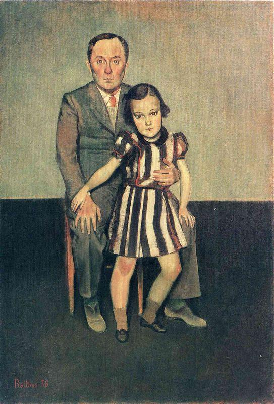 Joan Miro and his daughter Dolores - Balthus