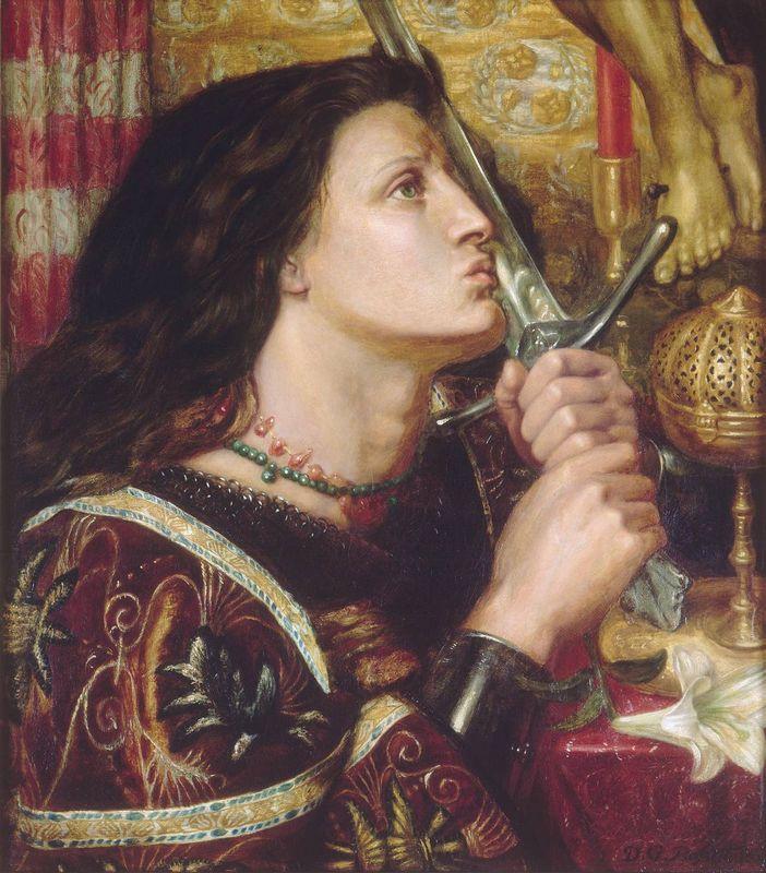 Joan of Arc Kisses the Sword of Liberation - Dante Gabriel Rossetti
