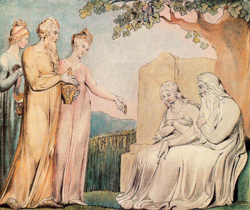 Job accepting Charity - William Blake