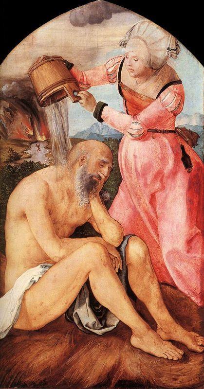 Job and His Wife - Albrecht Durer